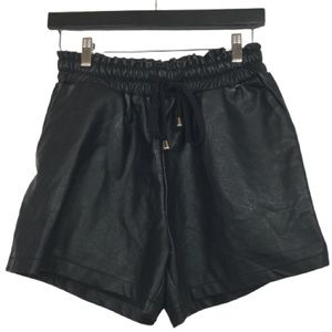 Princess Polly Vegan Leather High Waisted Shorts